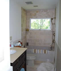 Updated bathroom with not so great presentation.