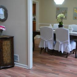 Creekwood dining room dressed up